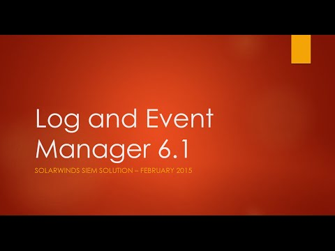 Log and Event Manager Demo