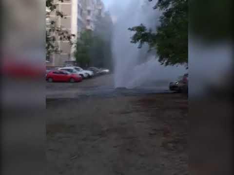 На Серафимы Дерябиной прорвало трубу с горячей водой