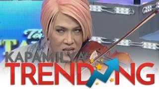 Vice Ganda learns how to use violin