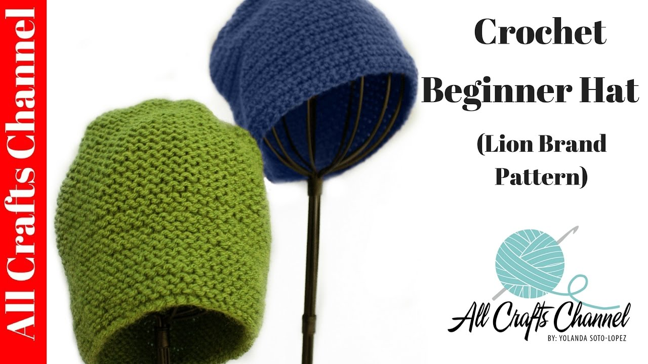 How to crochet Quick and Easy Beginner Crochet Hat - Yolanda Soto Lopez ba69b95d2aa