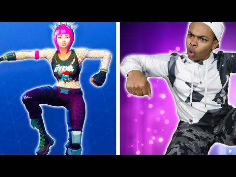 FORTNITE DANCES IN REAL LIFE CHALLENGE