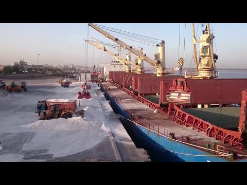 High Grade Industrial Salt Loading - MV S-Brilliant (Timelapse)