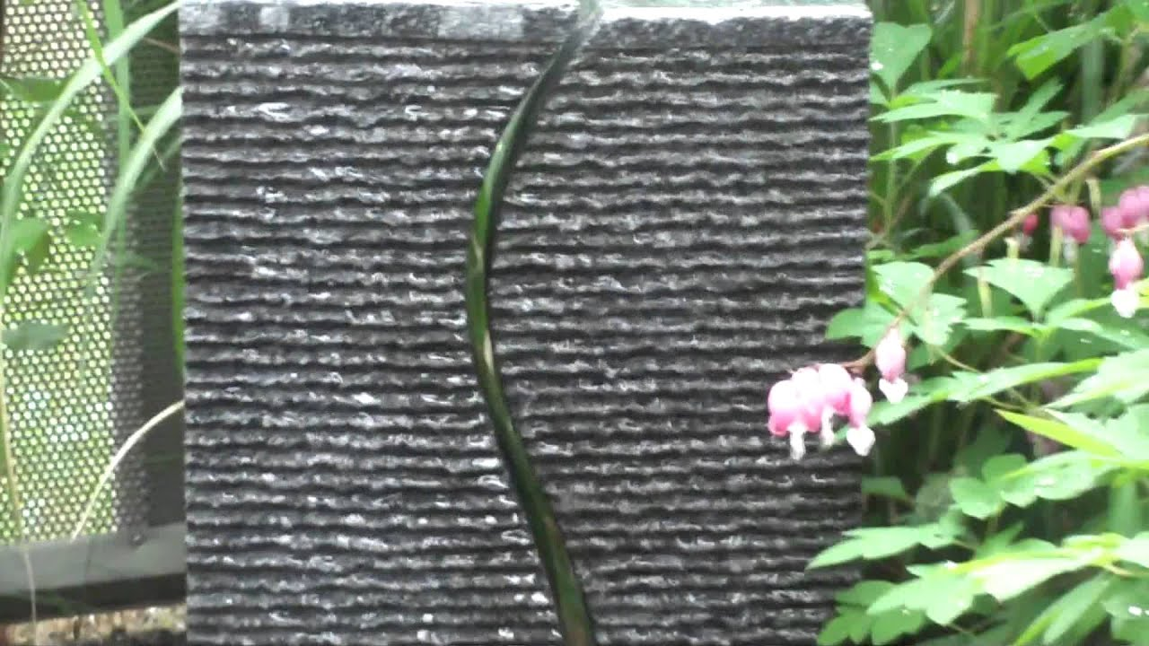 Springbrunnen Wasserspiel PE Becken Mit Pumpe Granit Saeulen