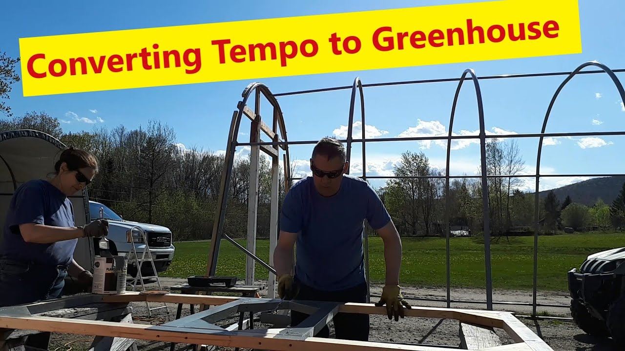 Greenhouse Is Built From A Temporary Garage Carport To Greenhouse Youtube