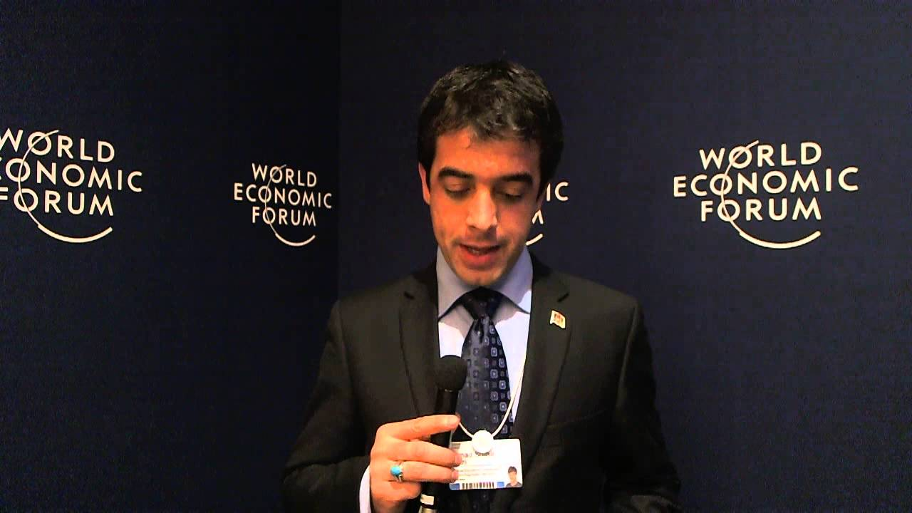 Ahmad Shakir Azizi - World Economic Forum on India 2012 social media corner