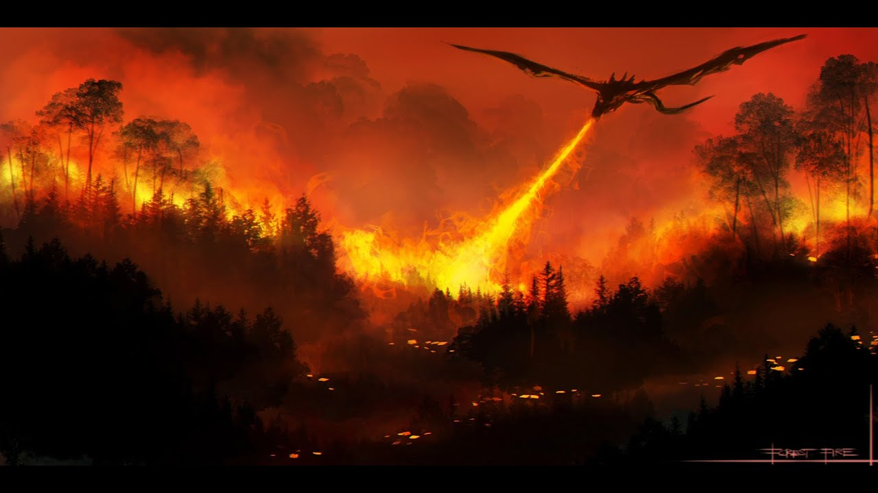 LET'S SKETCH 06: Spitpaint Forest Fire (REAL-TIME) - YouTube