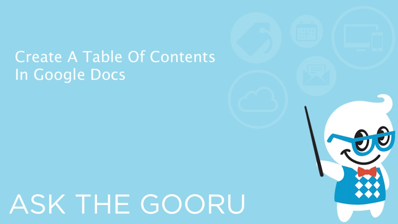 Create a table of contents in google docs youtube for Table of contents google docs