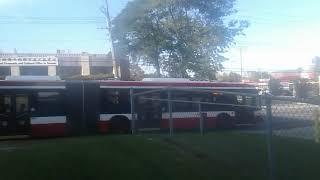 Ttc bus nova long bus 9007 aka dufferin bus on 134c