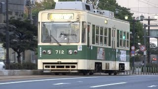広島電鉄 700形712号車 相生橋にて 20171117