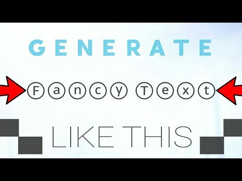 How to Generate FANCY TEXT on Android(2018)!