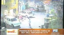 'Batang hamog' steals items from barangay hall