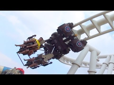 Bandit Bomber Roller Coaster Off-Ride POV Yas Waterworld Abu Dhabi UAE