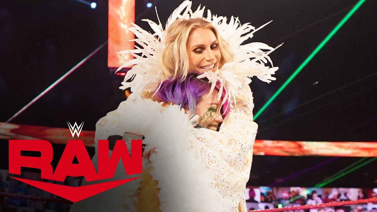 Charlotte Flair celebrates with Asuka: Raw, Dec. 21, 2020