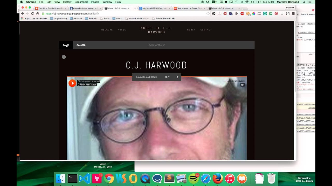 how to add youtube video to squarespace