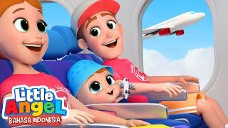 Serunya, Naik Pesawat Untuk Pertama Kalinya!   Kartun Anak   Little Angel Bahasa Indonesia