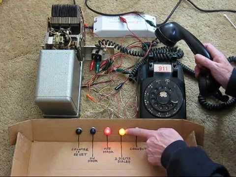 Strowger step-by-step switch demonstration