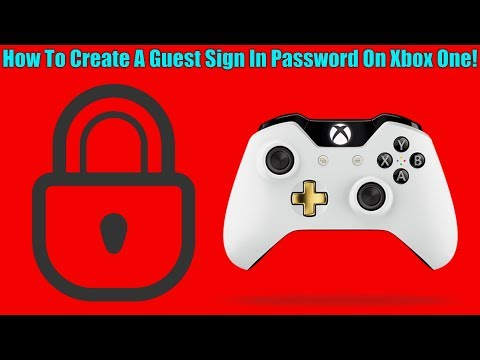 How To Create A Guest Sign In Password On Xbox One