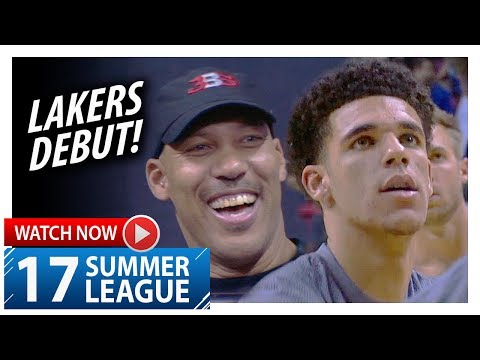 Lonzo Ball Full Lakers Debut Highlights vs Clippers (2017.07.07) Summer League - 5 Pts, 5 Ast