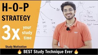 Best Study Technique Ever 🔥| HOP Strategy | 3X your study time