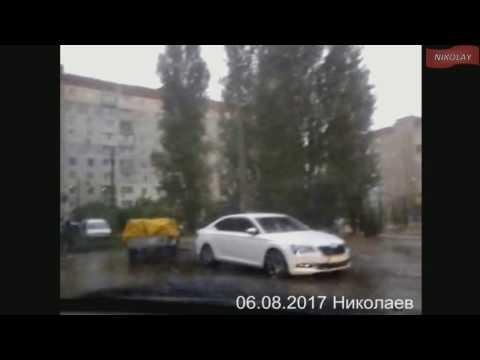 Ливень и ураган в Николаеве