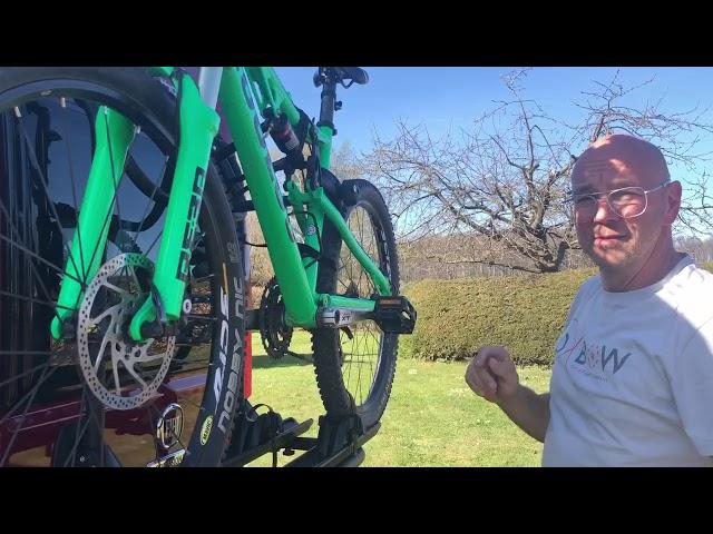 Fahrradträger am Wohnmobil / Kastenwagen beladen