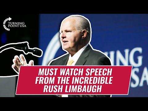 Must Watch Speech From The Incredible Rush Limbaugh