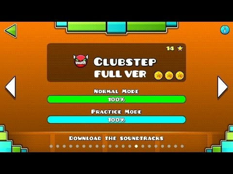 Geometry Dash - Clubstep (FULL VER) All Coin / ♬ Partition