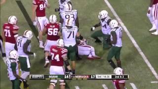 Video Ameer Abdullah - Nebraska Football - HB - 2014 Miami Game download MP3, 3GP, MP4, WEBM, AVI, FLV Agustus 2018