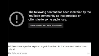 BANNED VIDEO ON 5G, WIGIG AND WIFI- The Brutally Honest Truth Being Censored JOE IMBRIANO