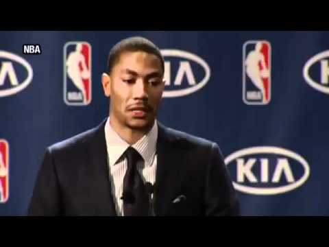 Derrick Rose Cries During Most Valuable Player Speech MVP 2011