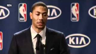 Repeat youtube video Derrick Rose Cries During Most Valuable Player Speech MVP 2011