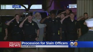 Procession For Slain Palm Springs Police Officers