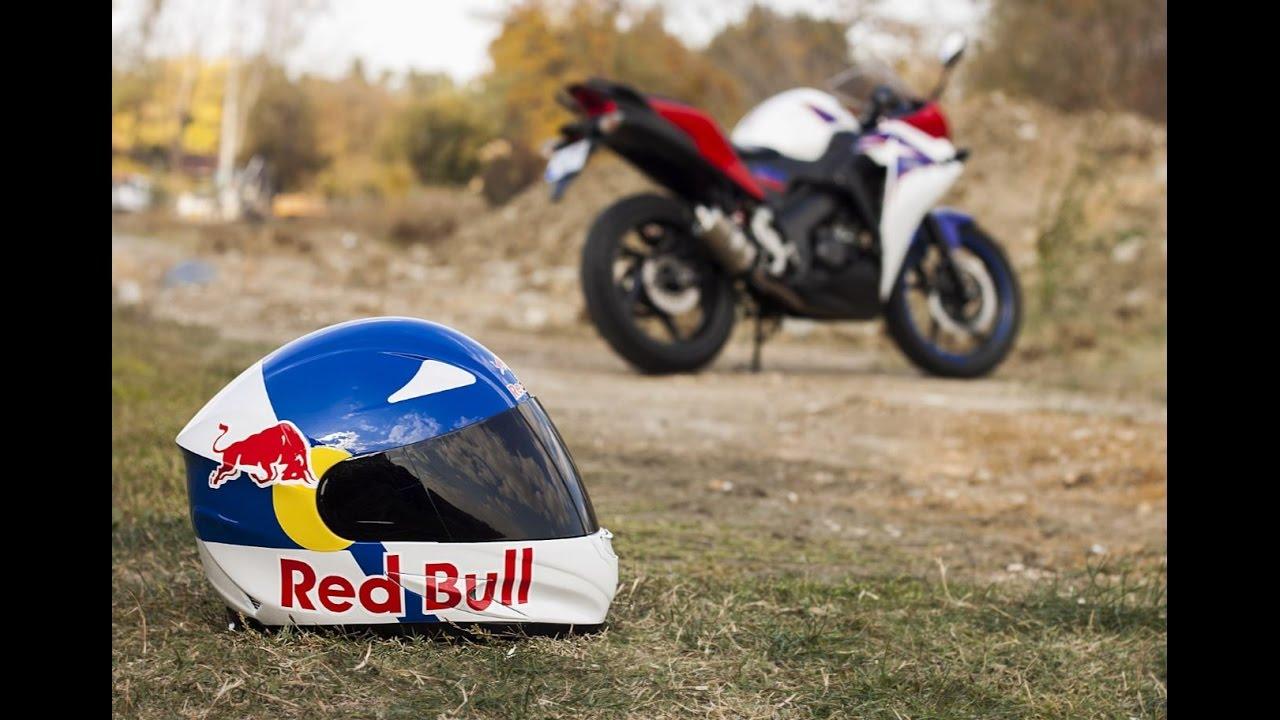 Kask Boyama 2 Helmet Painting Redbull Youtube