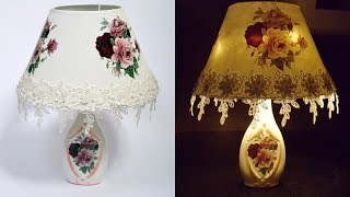 DIY / Lamp Made out of Recycled glass bottle / Easy Tutorial