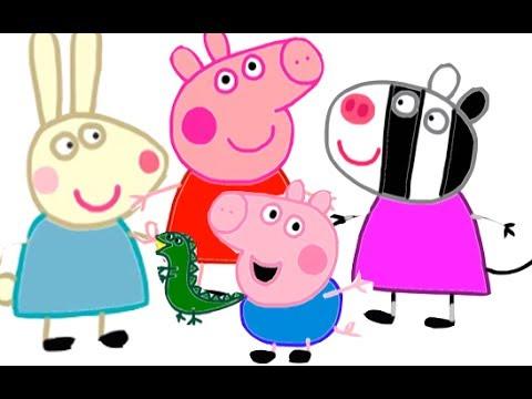 Itsy Artist  Como Dibujar A Peppa Pig Y Los Personajes De Los
