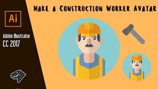How to Create Flat Profession Avatars in Adobe Illustrator | Make a Construction Worker Avatar