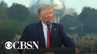 Trump uses July 4 speech to defend American heroes