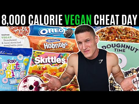 BODYBUILDER vs VEGAN CHEAT DAY *8,000 CALORIES* | I made veganism unhealthy...