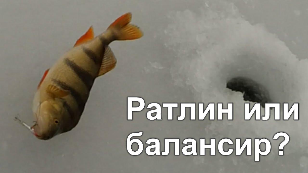 Раттлин или балансир? Ловля щуки и окуня зимой со льда.