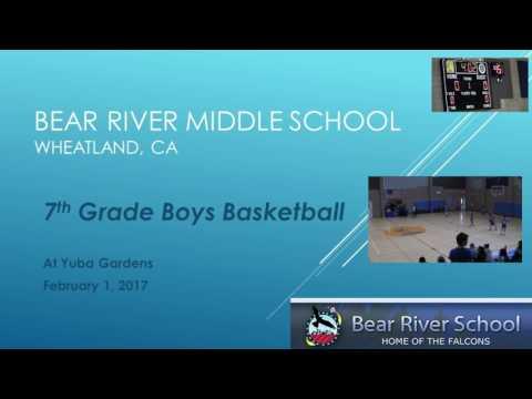 Bear River Middle School 7th Grade basketball vs Yuba Gardens