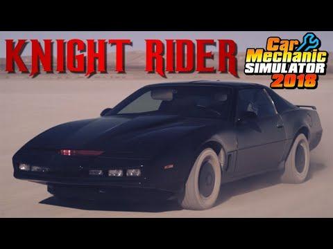 Rebuilding Knight Rider - KITT - Car Mechanic Simulator 2018 Gameplay - MOD