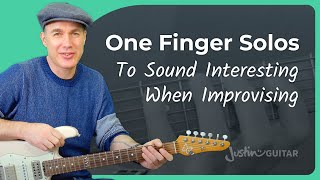 One Finger Solos: The Key For Melodic Scales