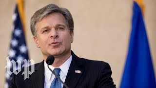 FBI Director holds news conference following release of DOJ inspector general's report