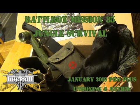Battlbox (Battle Box) Mission 35 Jungle Survival - January 2018 - Pro Plus Unboxing and review