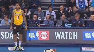 Michael Beasley Forgets To Wear Lakers Shorts! Lakers vs Thunder