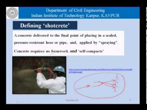 Mod-01 Lec-23 Shotcrete and underwater concrete