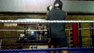 Andy and Jake Sparring - Boodles Boxing Ball 2011