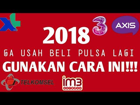 Trik Cepat Dapet Pulsa Gratis 2018 100 Banjir Pulsa Youtube