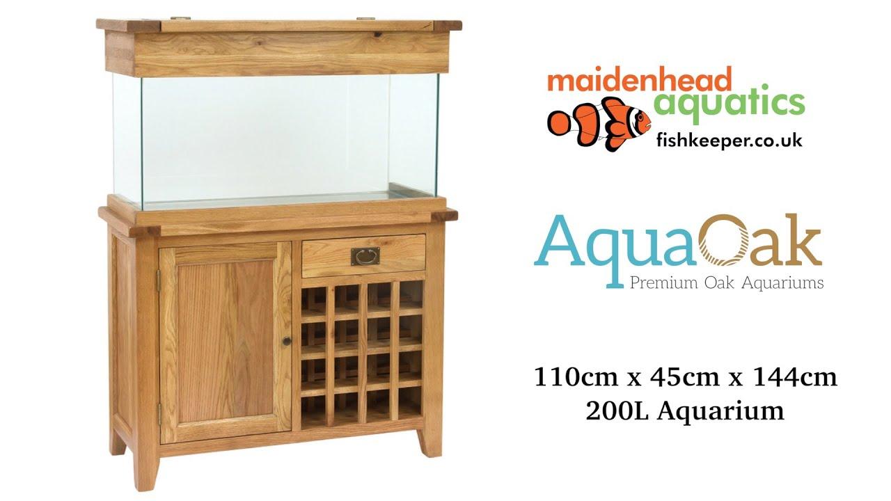 Aqua Oak 110cm Wine Rack Aquarium And Cabinet