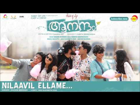 Nilaavil Ellame | Film Aanandam | Music By Sachin Warrier | New Malayalam Songs